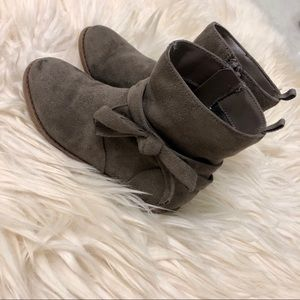 Joe fresh toddler girl's fall brown suede boots